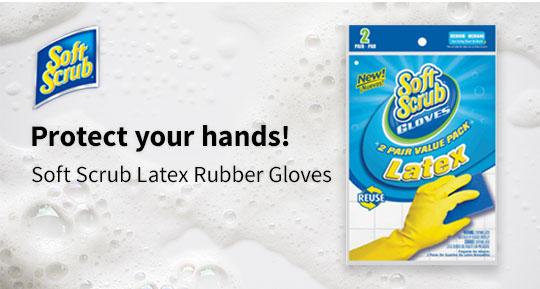 Soft Scrub Latex Gloves