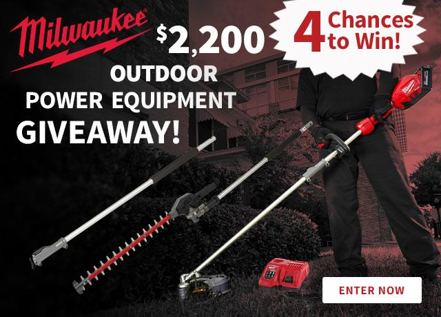 Milwaukee Outdoor Power Equipment Giveaway