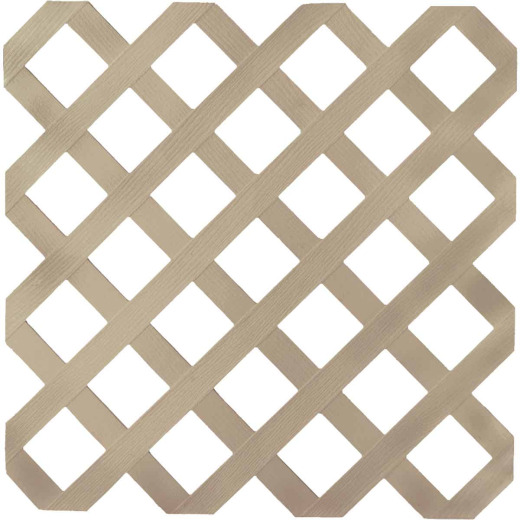 Dimensions 4 Ft. W x 8 Ft. L x 1/8 In. Thick Brownstone Vinyl Lattice Panel