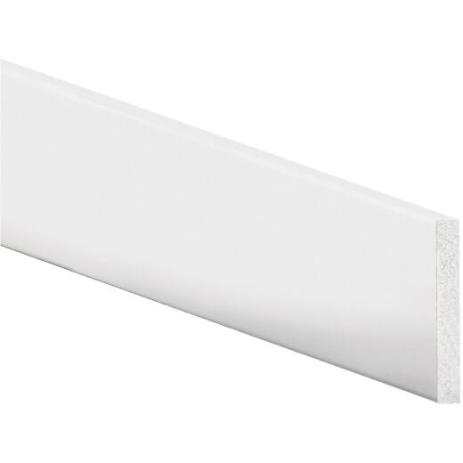 Inteplast Building Products 4 In. x 8 Ft. Crystal White Polystyrene Flat Molding