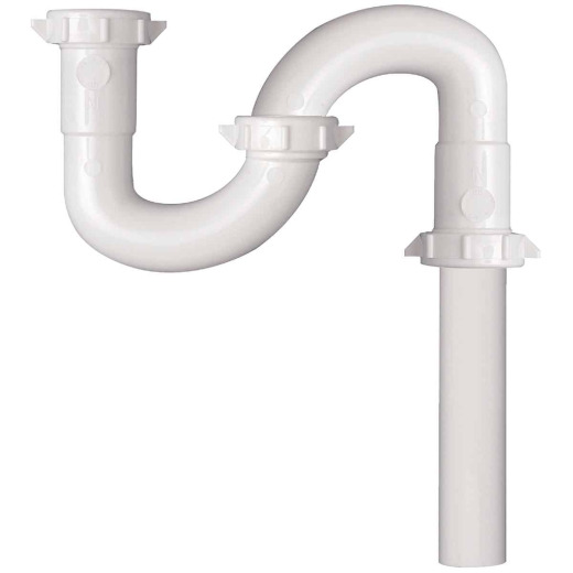 Do it 1-1/4 In. x 1-1/4 In. White Plastic S-Trap