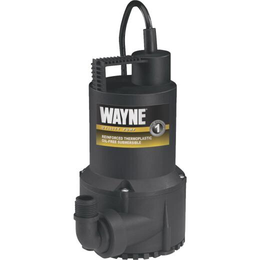 Wayne 1/6 H. P. Submersible Continuous-Duty Utility Pump