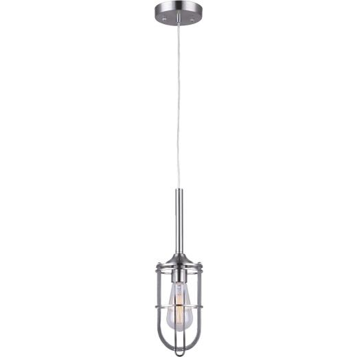 Home Impressions Indus 1-Bulb Brushed Nickel Incandescent Pendant Light Fixture