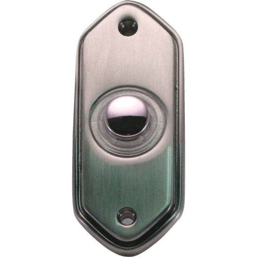 IQ America Wired Pewter Lighted Doorbell Button
