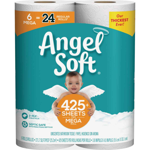 Angel Soft Toilet Paper (6 Mega Rolls)