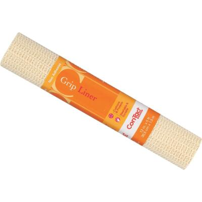 Con-Tact 12 In. x 5 Ft. Almond Beaded Grip Non-Adhesive Shelf Liner