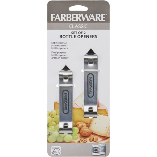 Farberware Stainless Steel Bottle Openers (2 Count)