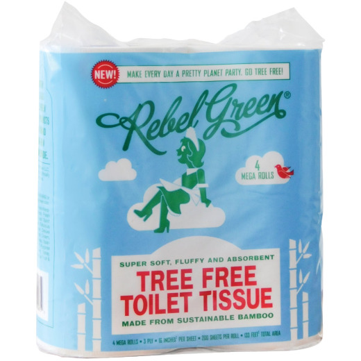 Rebel Green Tree Free Toilet Paper (4 Mega Rolls)