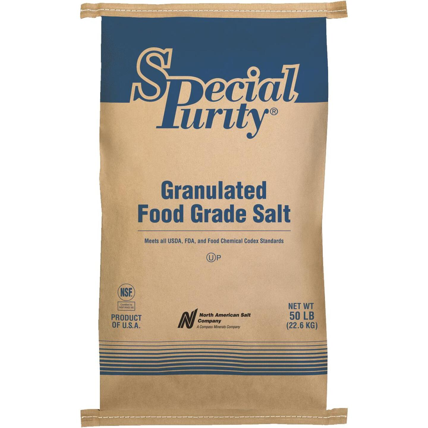 Special Purity 50 Lb. 99.9% Purity Untreated Food Grade Salt Image 1