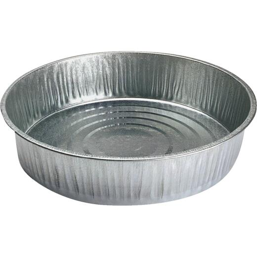 S & K 13 Qt. Round Galvanized Steel Utility Feed Pan