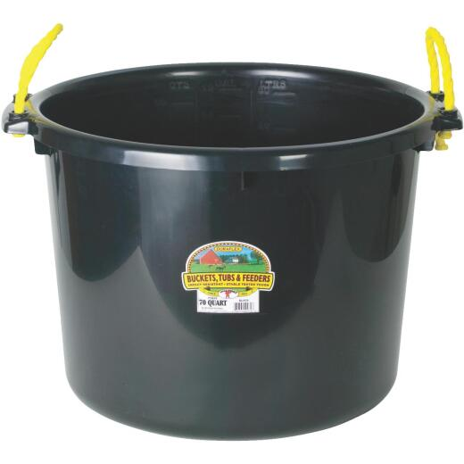 Little Giant Duraflex 70 Qt. Black Plastic Utility Tub