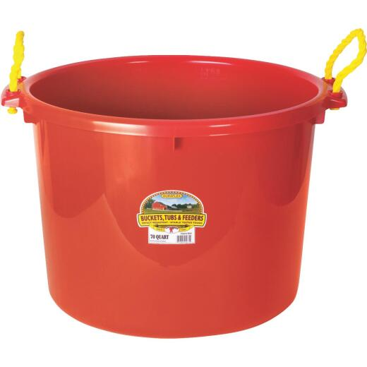 Little Giant Duraflex 70 Qt. Red Plastic Utility Tub