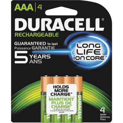 Duracell AAA NiMH Rechargeable Battery (4-Pack)